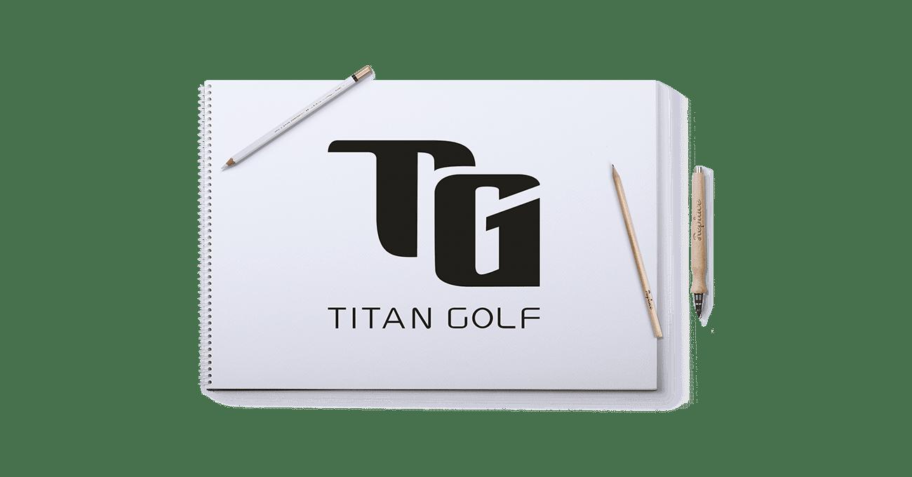 Logogestaltung für Titan Golf
