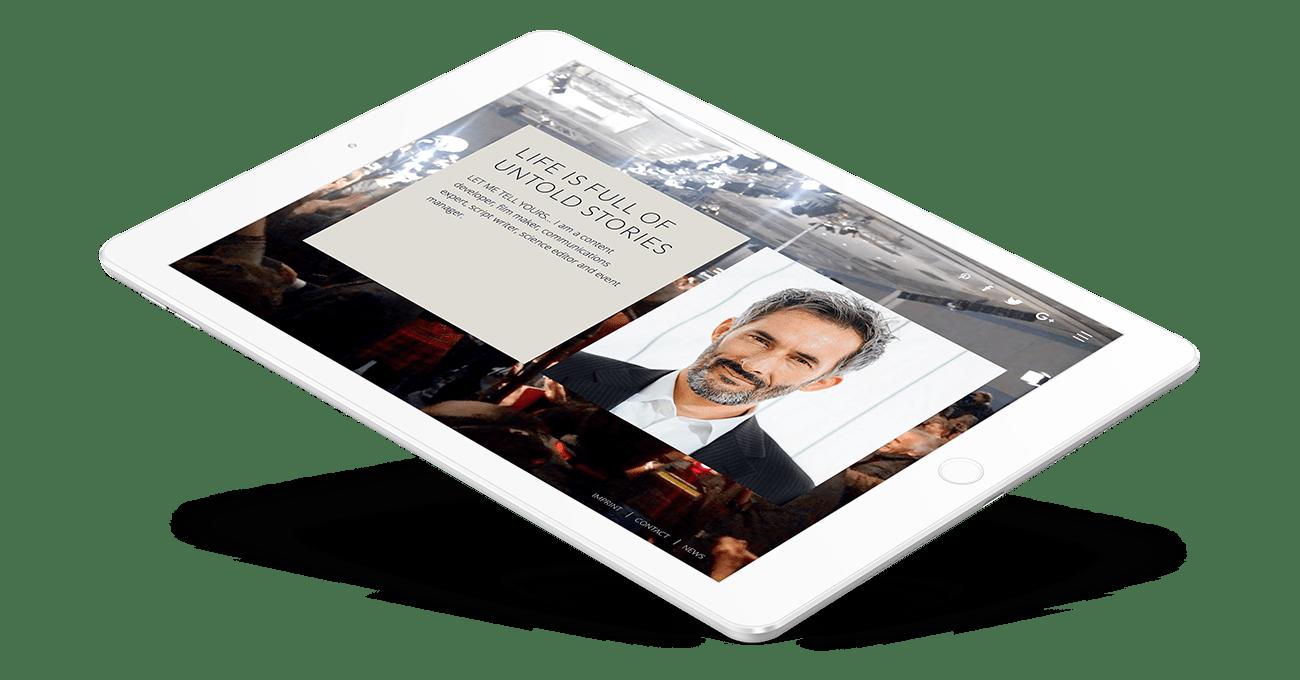 Webdesign für Adam Majorosi