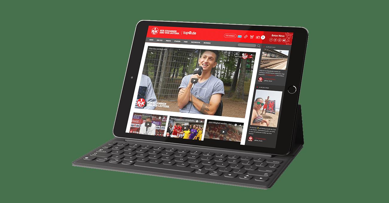 Webdesign für den 1. FC Kaiserslautern