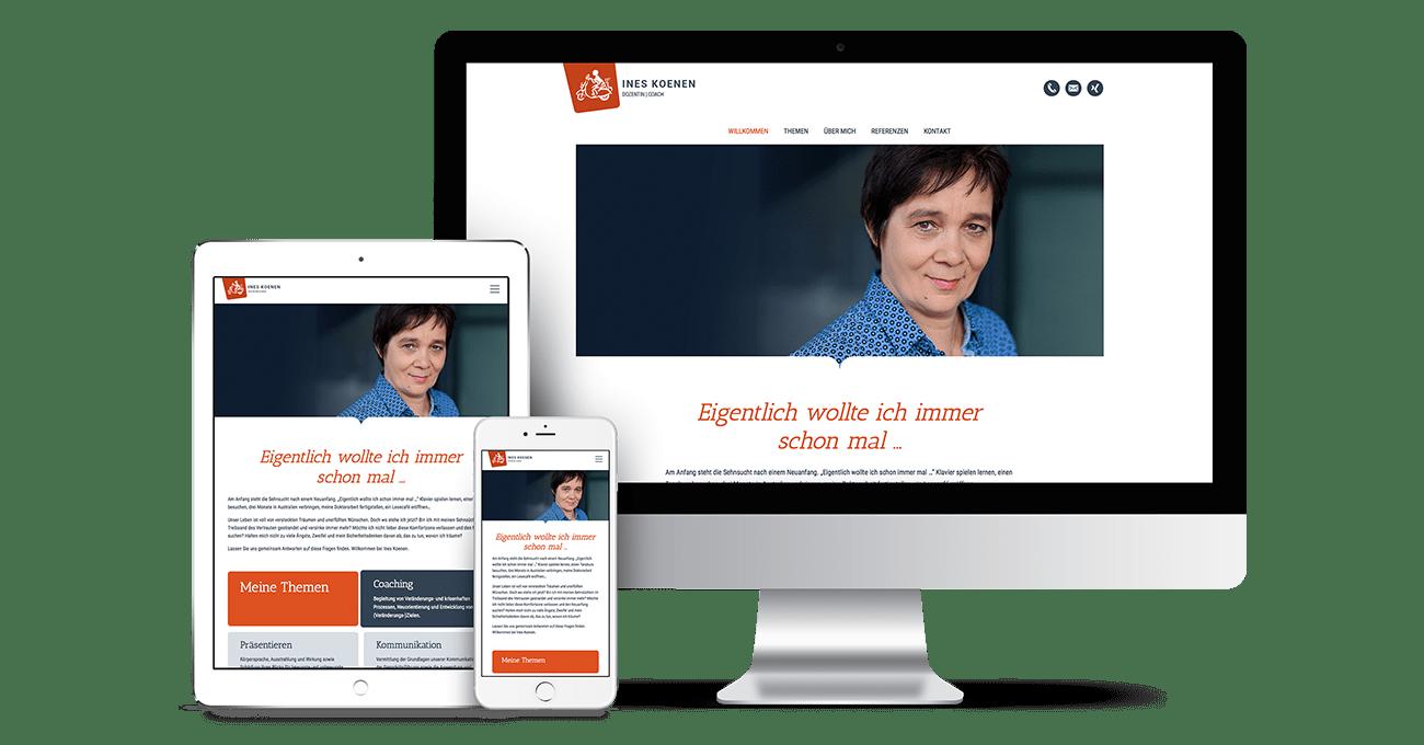 Webdesign für Ines Koenen
