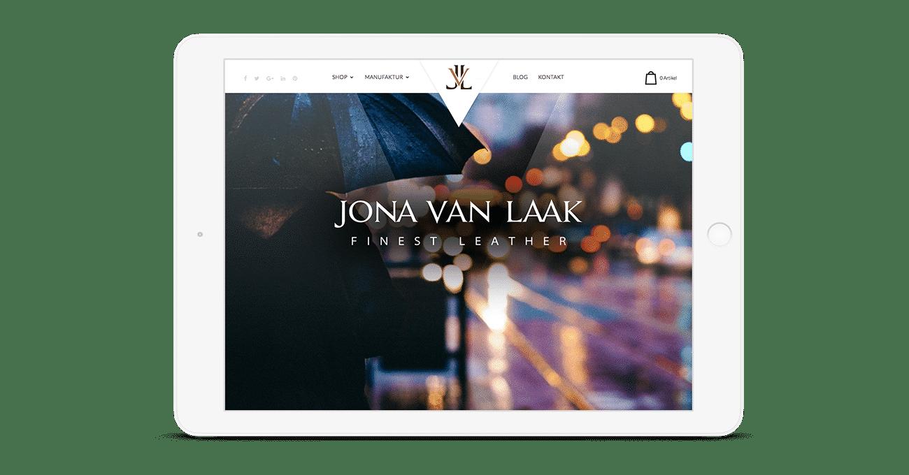 Webdesign für ein Mode-Label