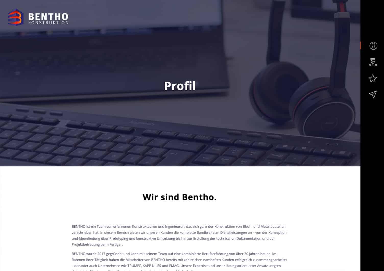Webdesign Berlin Bentho