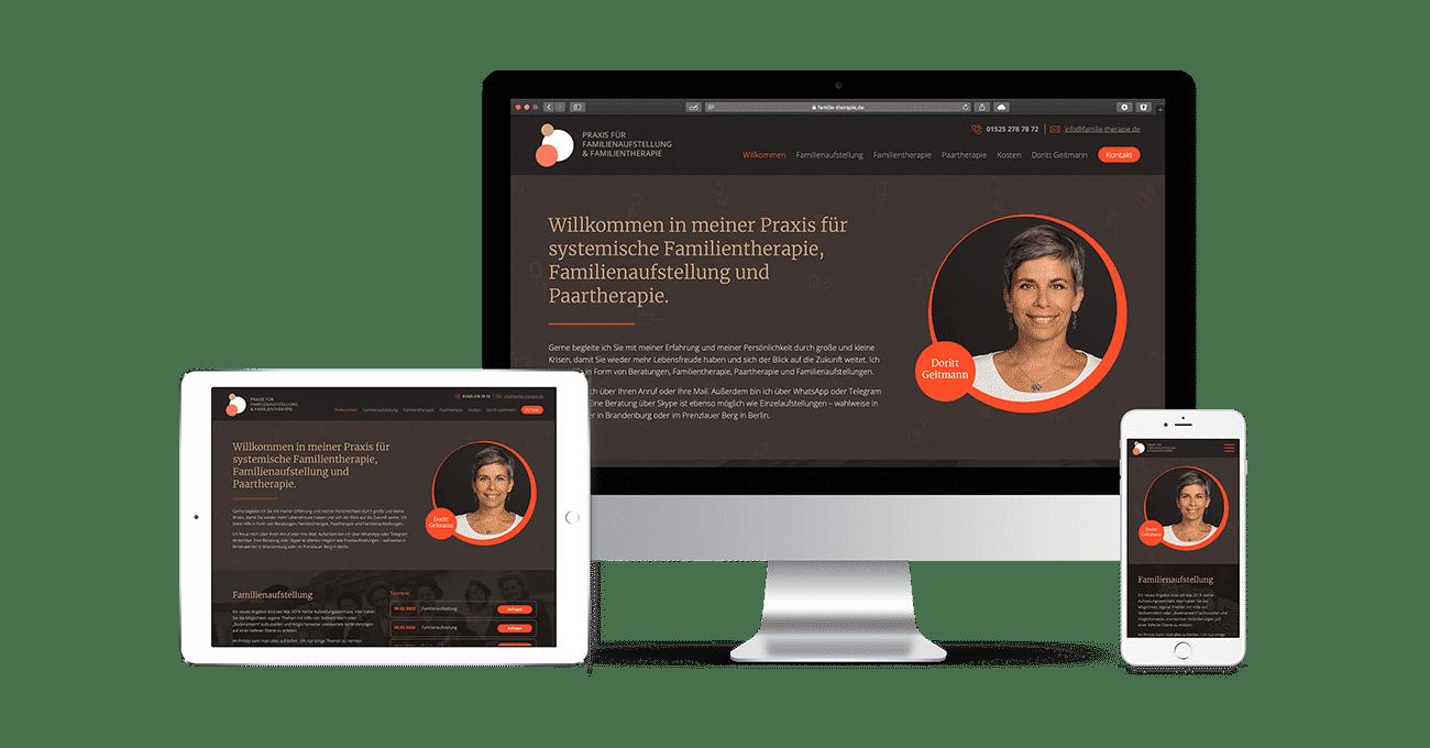 Webdesign Berlin: The new website for Doritt Geitmann, Berlin