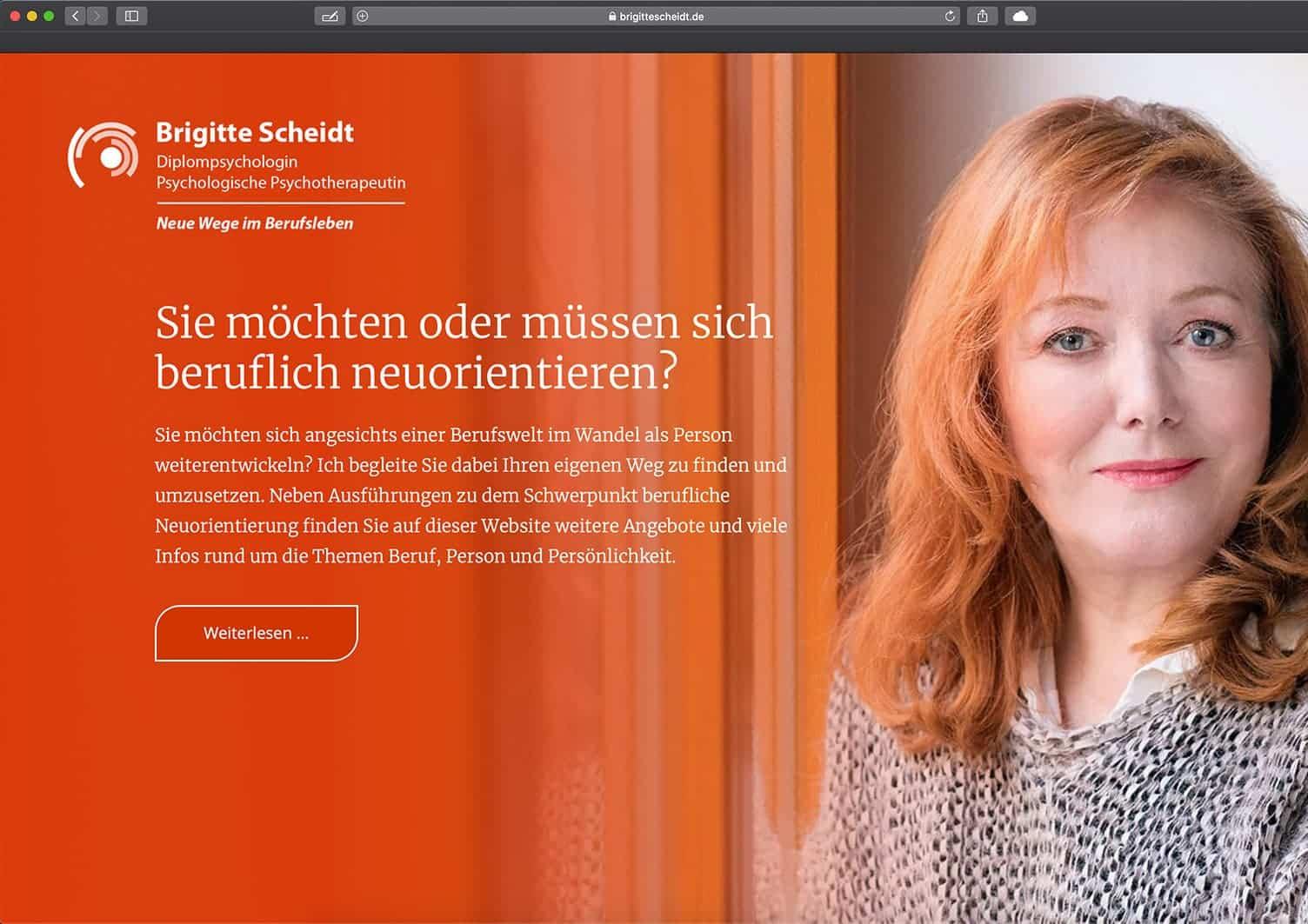 Webdesign Berlin: Neue Website für Brigitte Scheidt Berlin