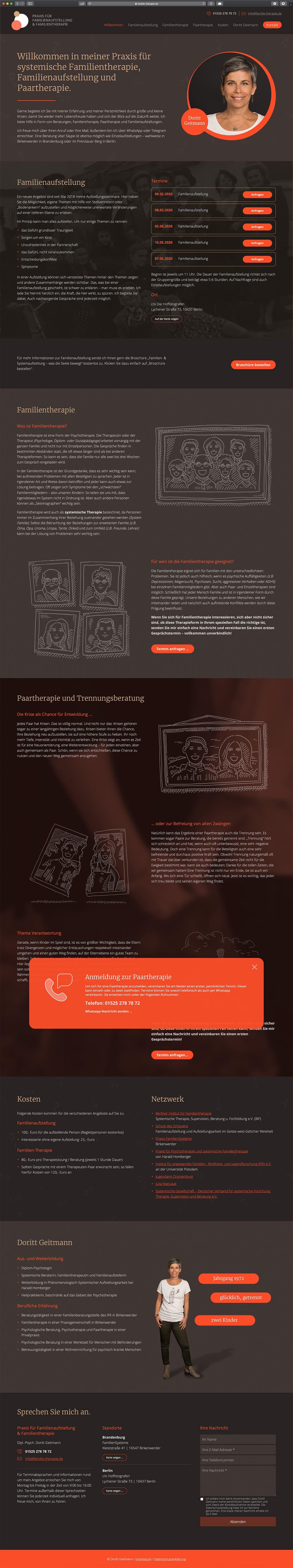 Webdesign Berlin: Praxis für Familientherapie