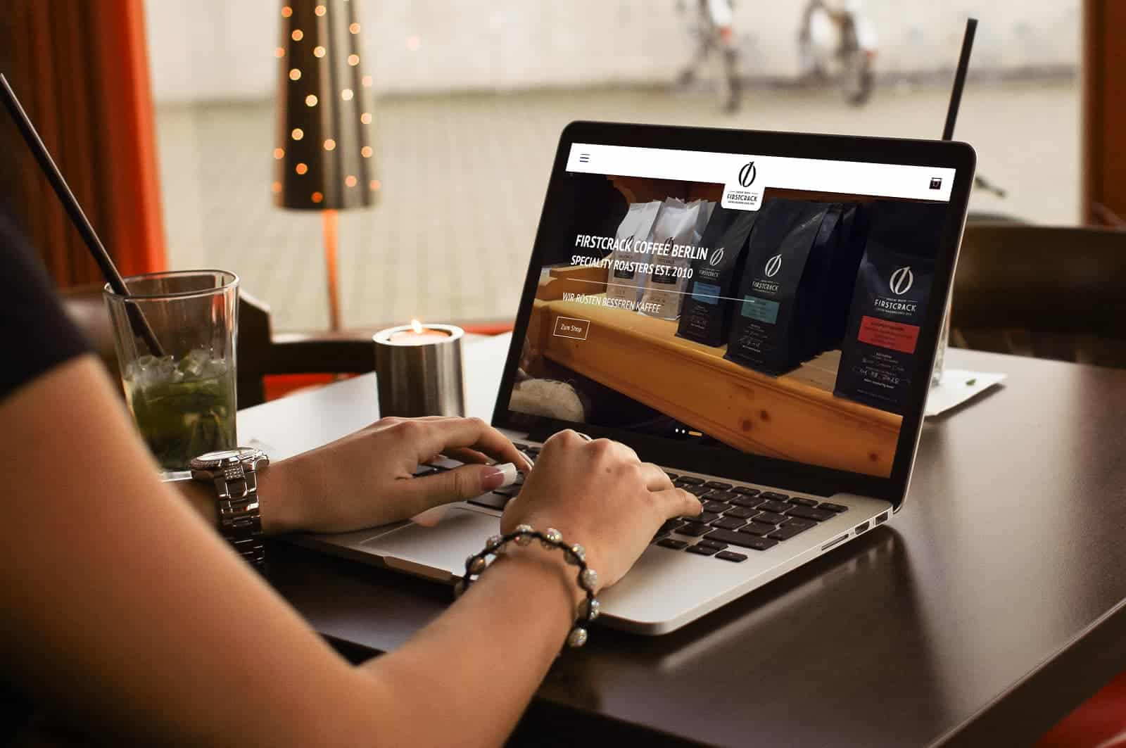 Webdesign Berlin - Firstcrack Coffee Roasters
