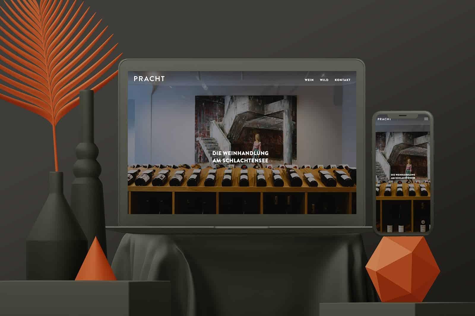 Webdesign Berlin Weinhandlung