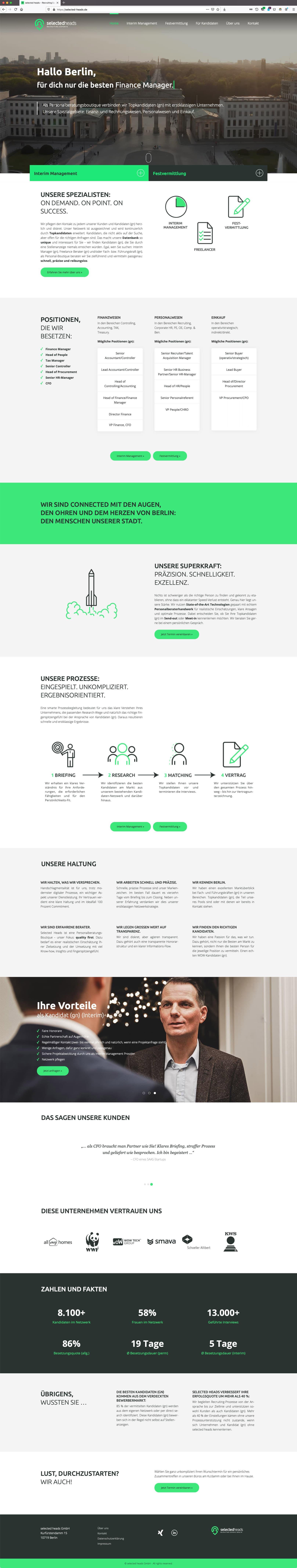 Webdesign Berlin Recruiting Website