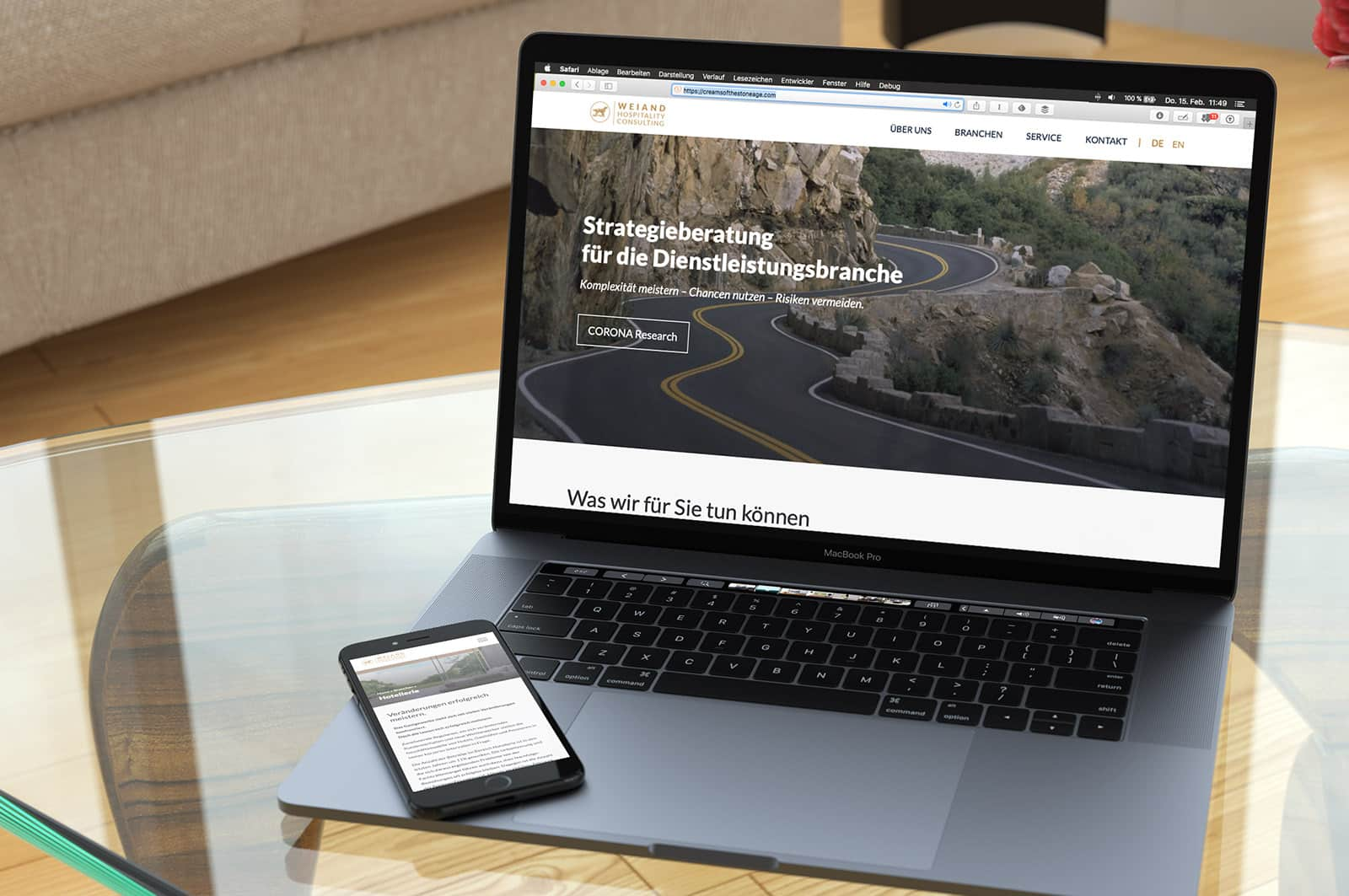 Webdesign Berlin Hospitality Consulting