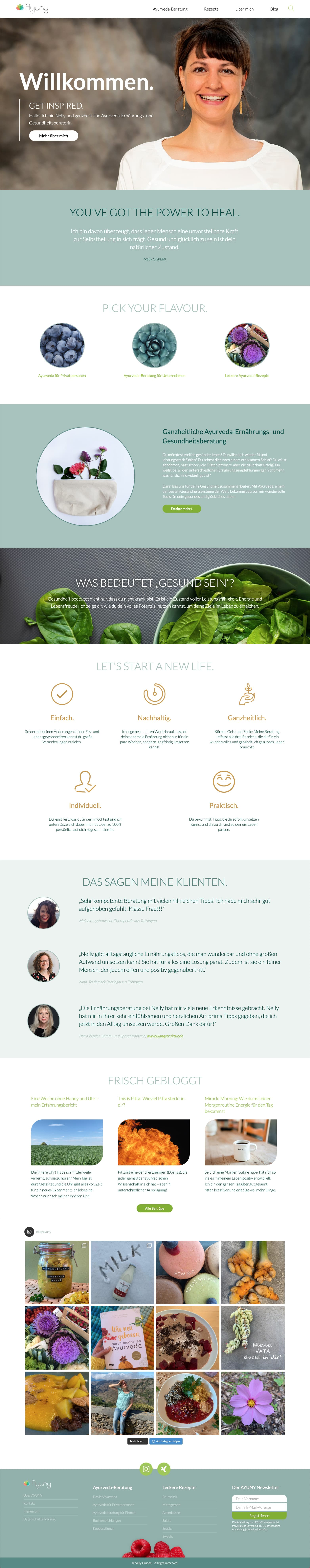 Webdesign Berlin Ayurvedische Ernährungsberatung