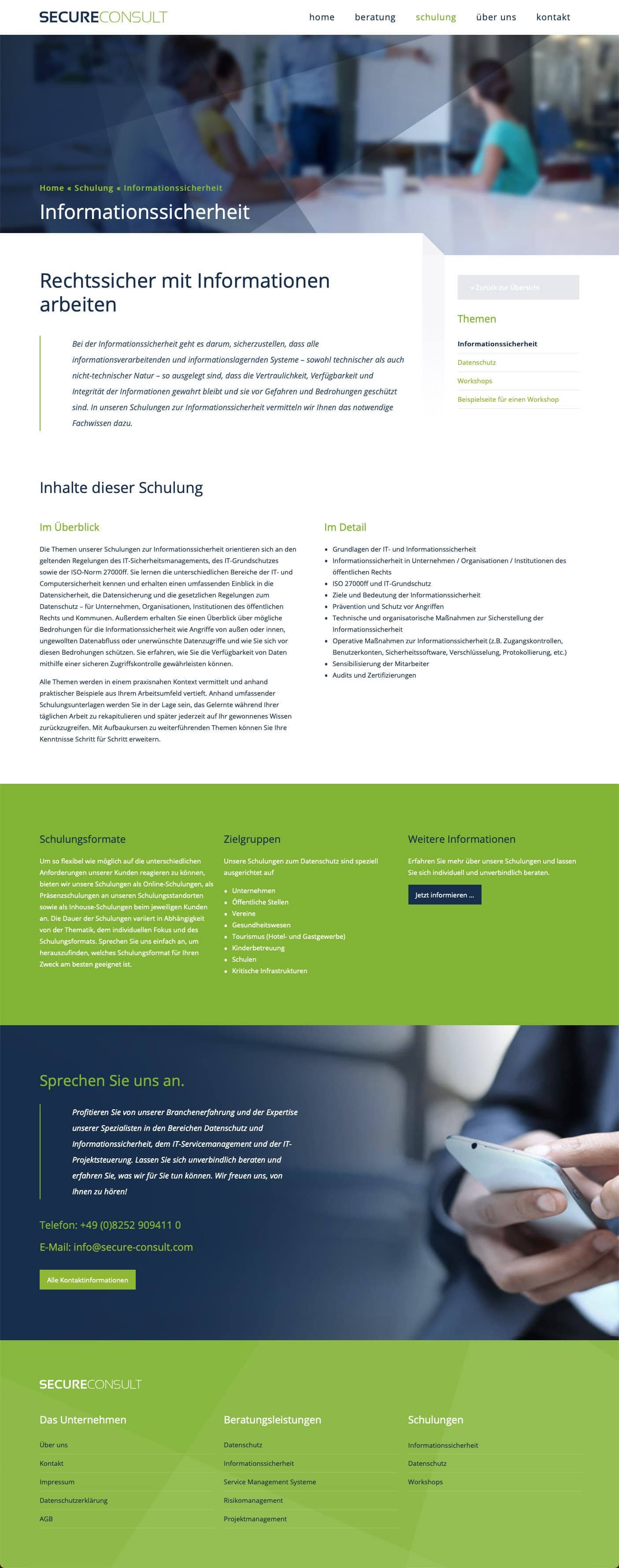 Webdesign Berlin Sicherheitsberatung
